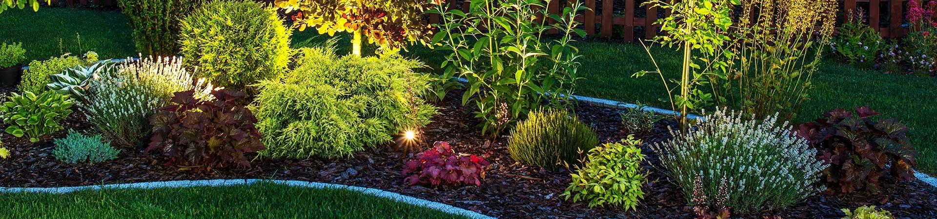 L'art et la matiere installe l'éclairage dans votre jardin.